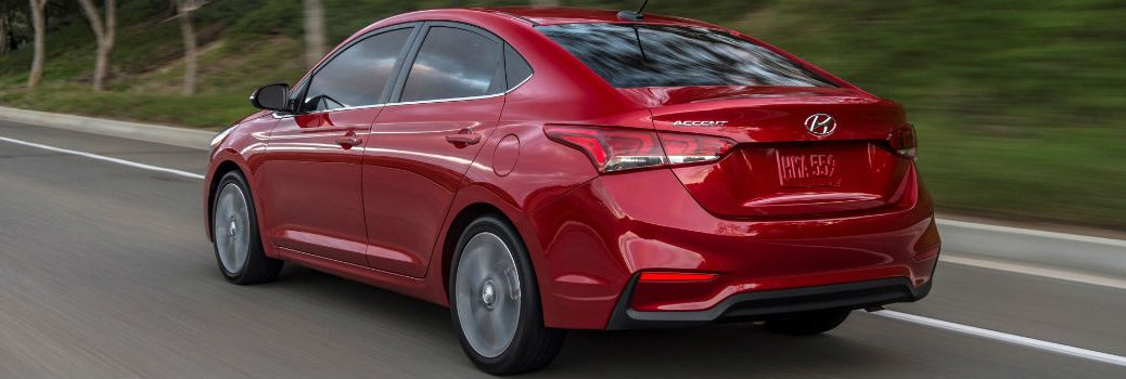 2020 Hyundai Accent Exterior Driver Side Rear Profile
