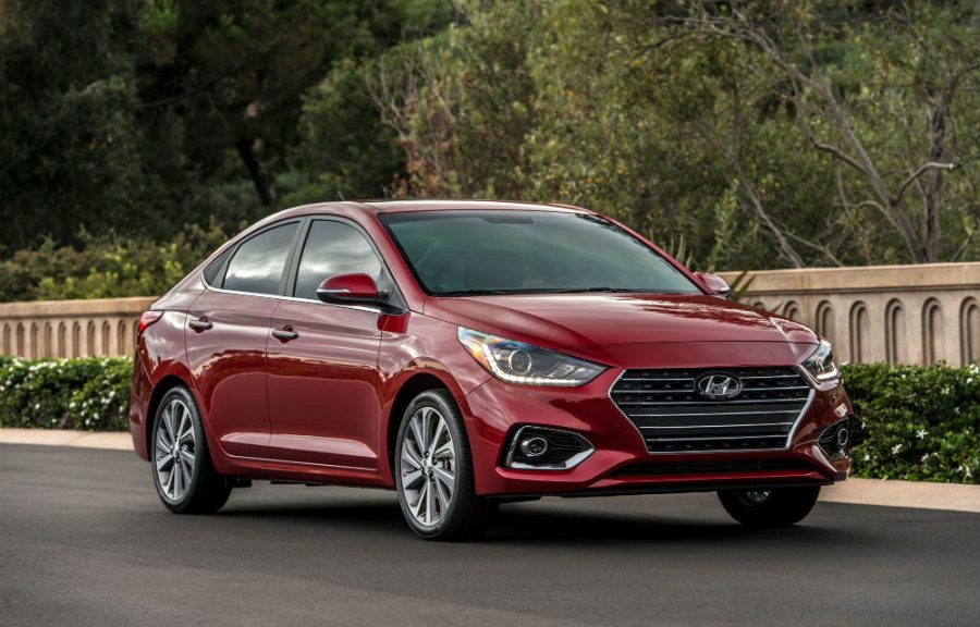 2019 Hyundai Accent Exterior Passenger Side Front Profile