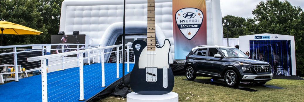 2020 Hyundai Venue on display at Hyundai Backstage 2019 Midtown Music Festival