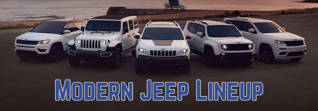 Vehicles available in the current Jeep lineup