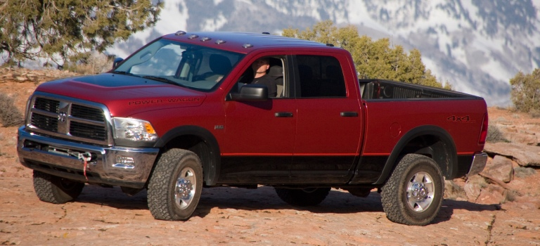 2010 Ram Power Wagon red side view