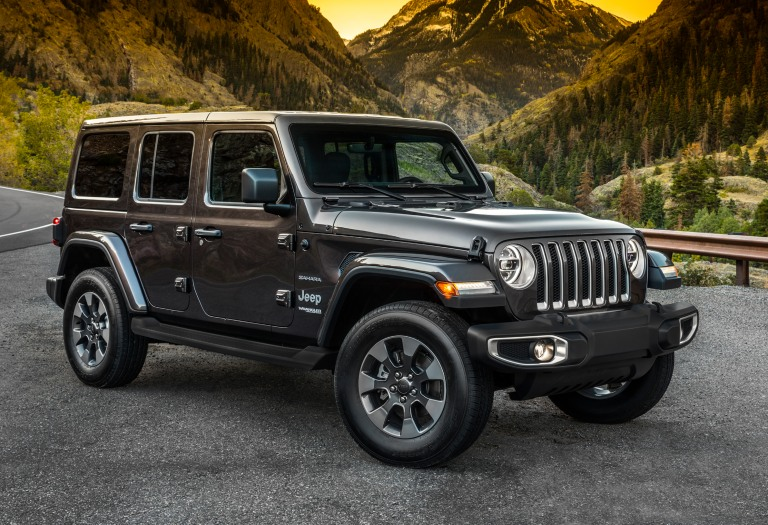 Jeep Wrangler JL black side view