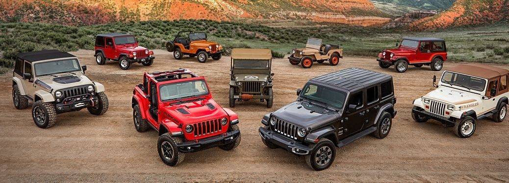Jeep Wrangler models through the years
