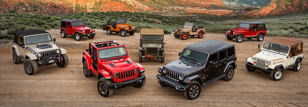 What are the Jeep Wrangler generations called?