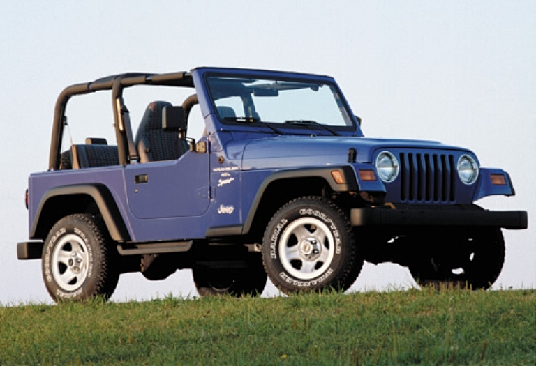 Jeep Wrangler TJ purple side view