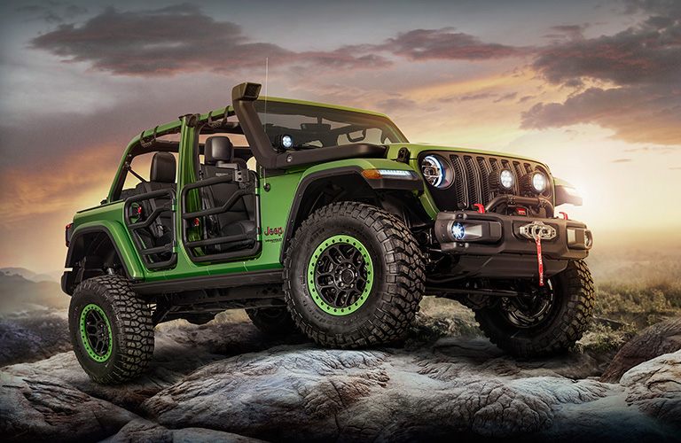 2018 Jeep Wrangler green side view
