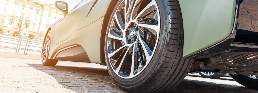 BMW supercar rear wheel