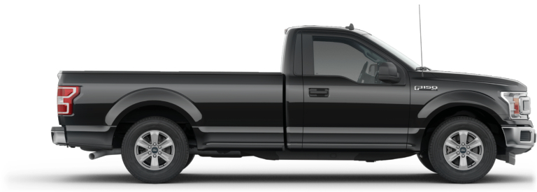 2019 Ford F-150 with a Regular Cab black side view