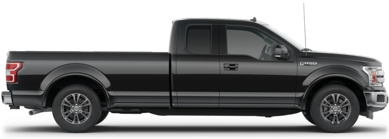 2019 Ford F-150 with a SuperCab black side view