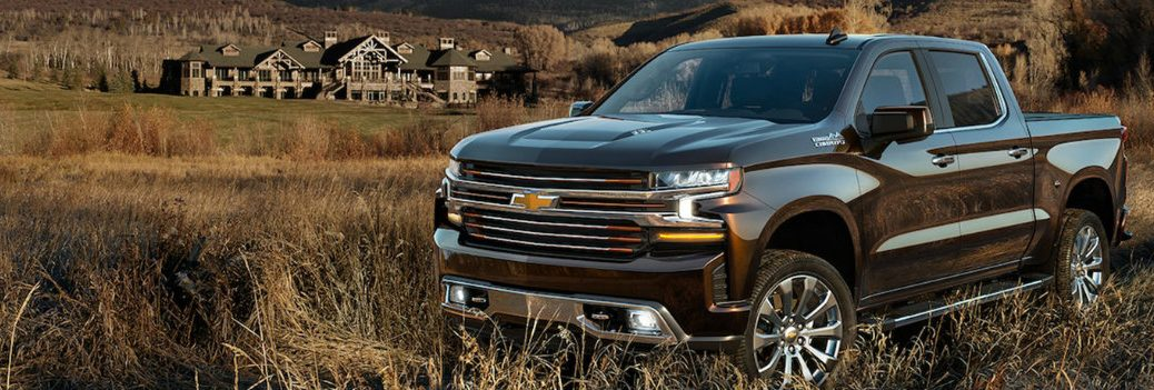2019 Chevy Silverado in a field