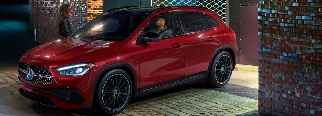 red luxury suv