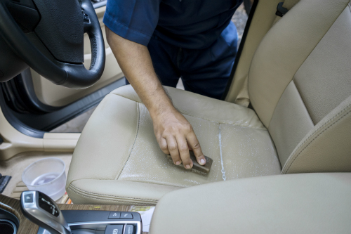 cleaning leather seat