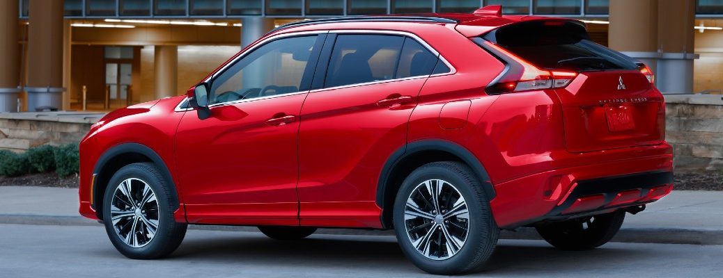 The 2022 Mitsubishi Eclipse Cross parked on the street.