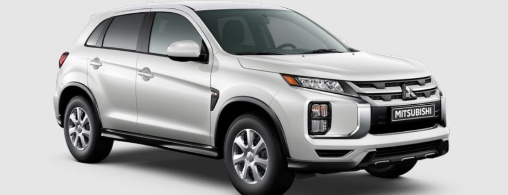2021 Mitsubishi RVR White Front and Side View