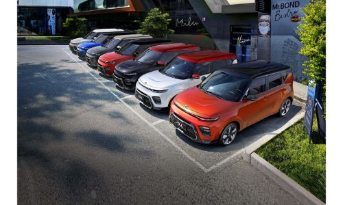 2021 Kia Soul 2020 model shown series of Soul models in parking lot