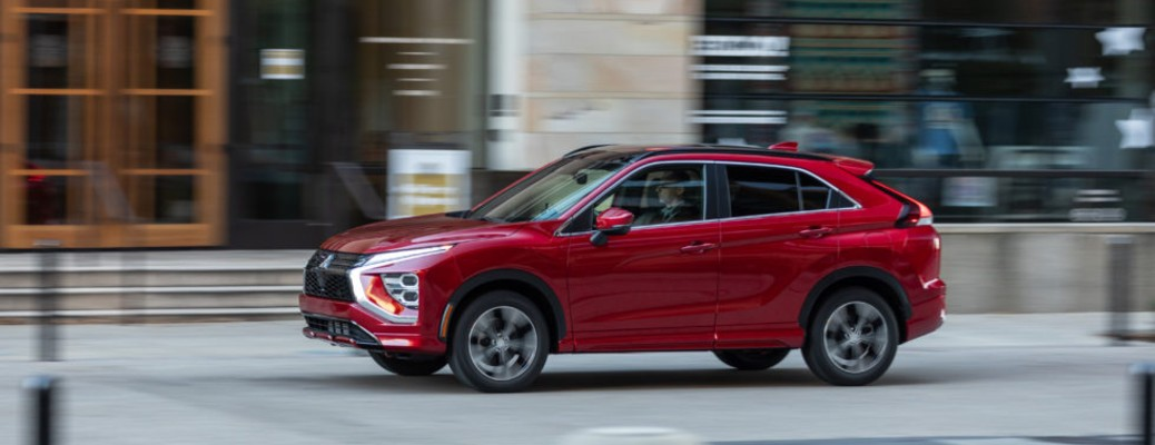 2022 Mitsubishi Eclipse Cross red driving on concrete