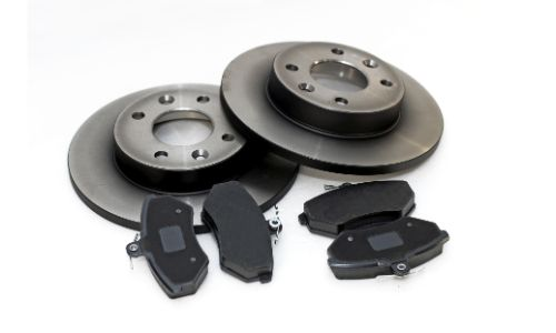 brake pads and rotors four pads two rotors