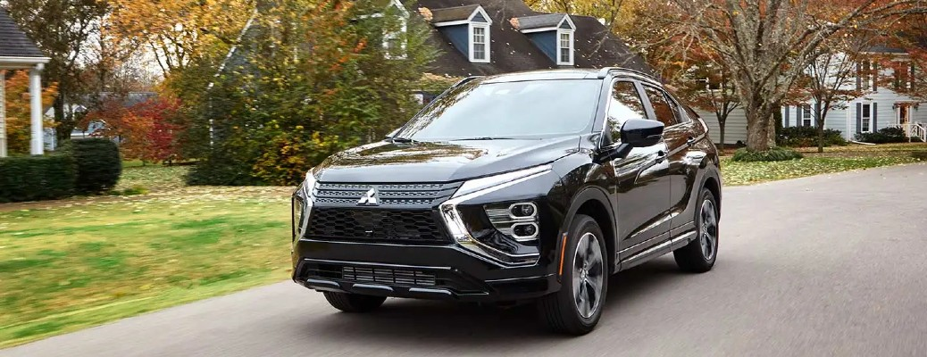 2022 Mitsubishi Eclipse Cross black on residential road