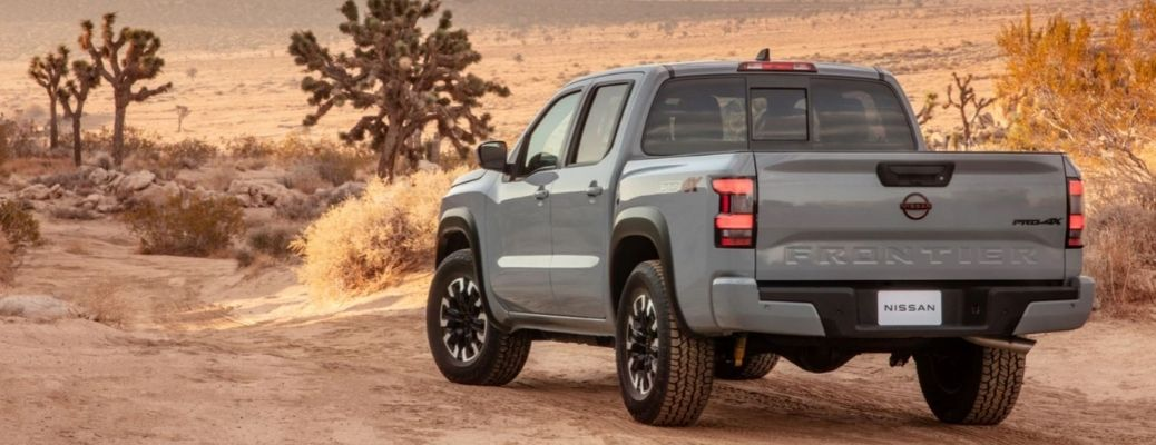 2022 Nissan Frontier Rear and Side View