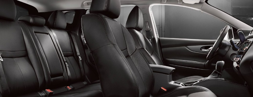 2020 Nissan Qashqai interior shot of Charcoal Leather seating