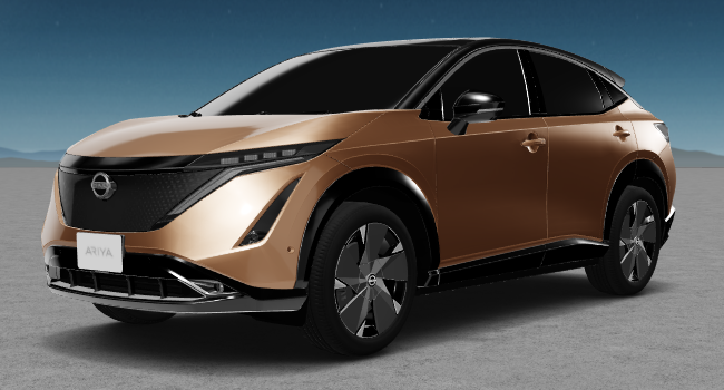2022 Nissan Ariya 1 Copper Tan and Black Roof