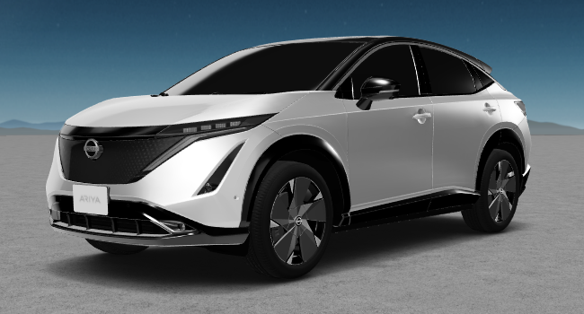 2022 Nissan Ariya 6 White and Black Roof