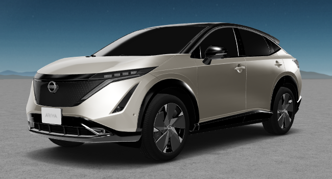 2022 Nissan Ariya 7 Beige and Black Roof