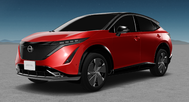 2022 Nissan Ariya 8 Red and Black Roof