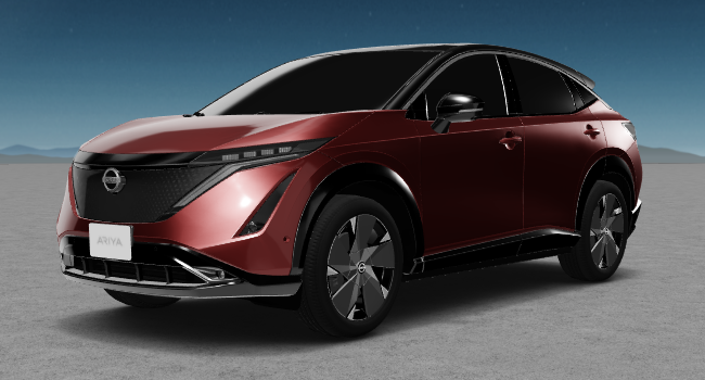 2022 Nissan Ariya 9 Crimson and Black Roof