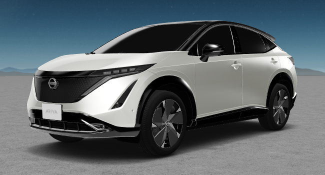 2022 Nissan Ariya 10 Bright White and Black Roof