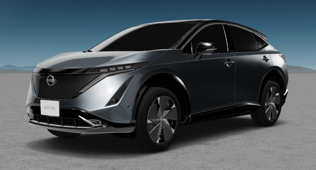 2022 Nissan Ariya 12 Grey Silver and Black Roof