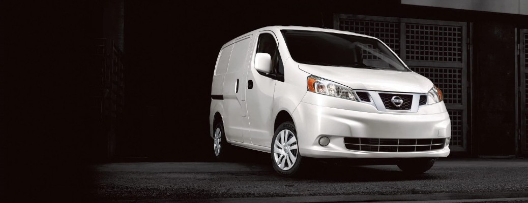 2021 Nissan NV200 Compact Cargo van model exterior promo shot with QMI colour option