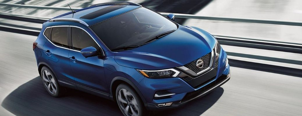2021 Nissan Qashqai Blue Front and Side View