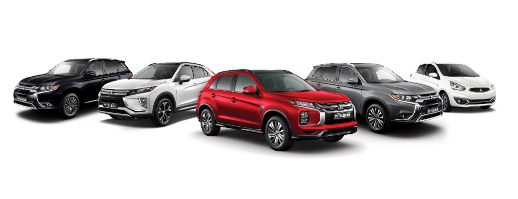 2020 Mitsubishi lineup of RVR, Eclipse Cross, Outlander, Outlander PHEV, and Mirage models