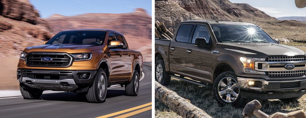 2019 Ford Ranger and F-150 models in comparison image