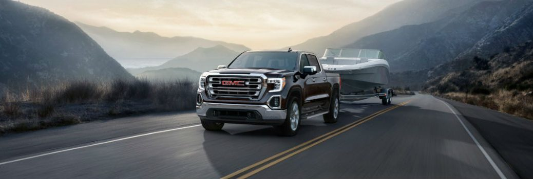 2019 GMC Sierra 1500 Exterior Driver Side Front Angle while Towing