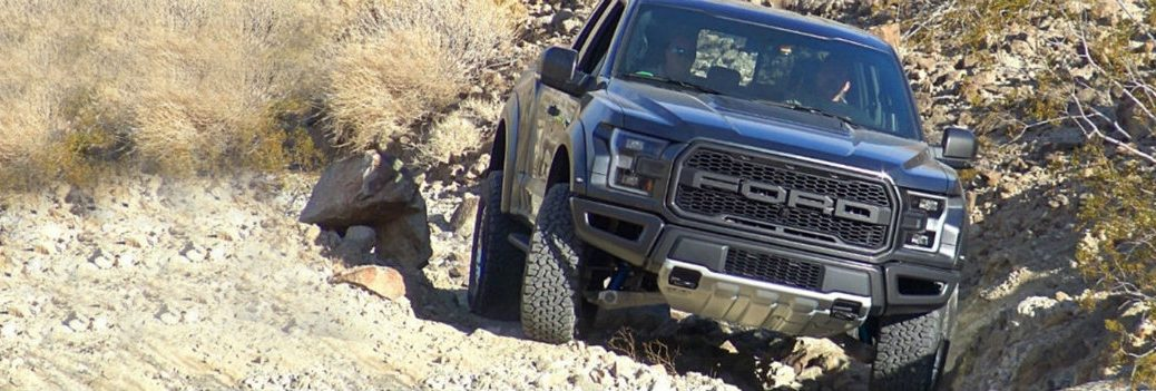 2018 Ford F-150 crawling over rocks