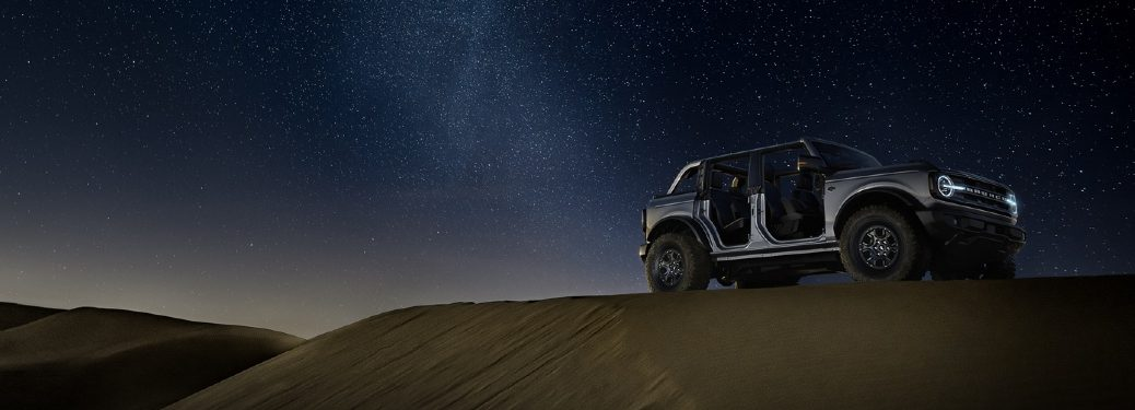 2021 Bronco parked on sand dune