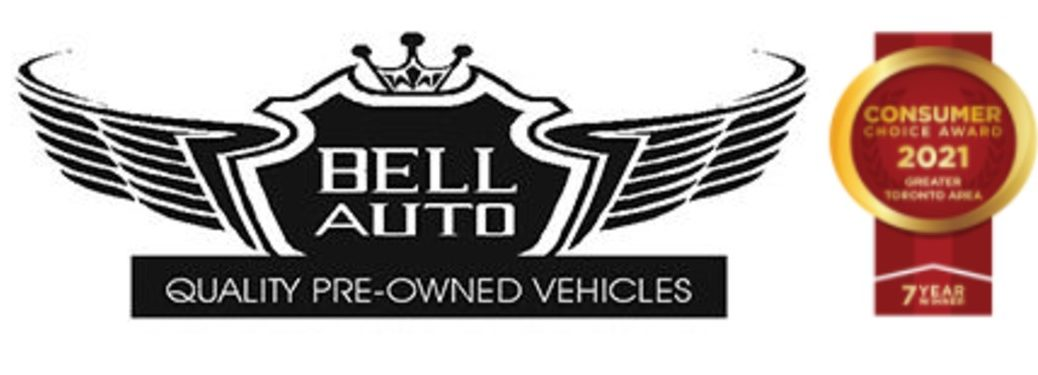 Bell Auto logo with consumer choice award 2021 to the right