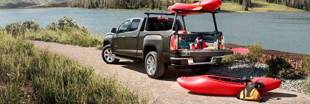 2016 GMC Canyon Exterior Driver Side Rear Angle with Accessories