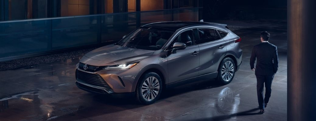 2021 Toyota Venza parked outside at night