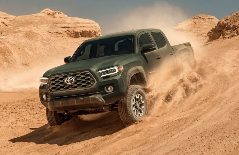 2021 Toyota Tacoma driving on sand