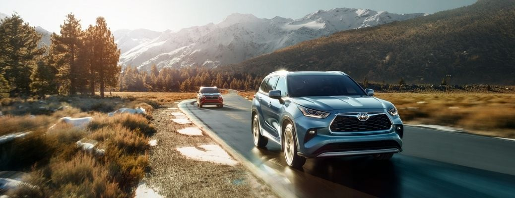 2021 Toyota Highlander driving front view