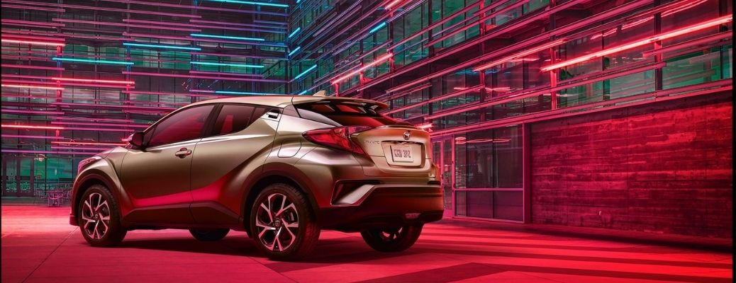 2021 Toyota C-HR parked rear view