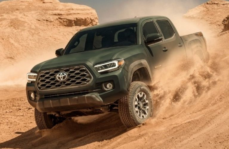 2021 Toyota Tacoma driving in the desert