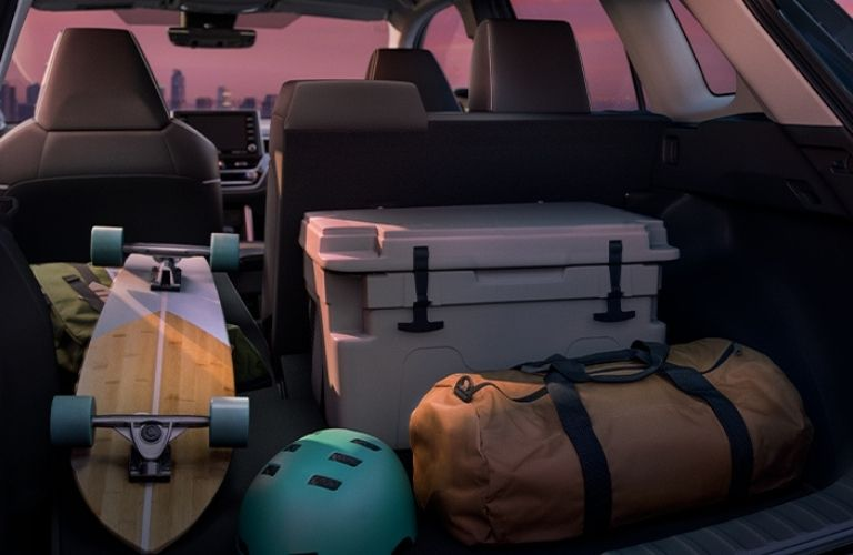 View of the cargo space of the 2022 Toyota Corolla Cross
