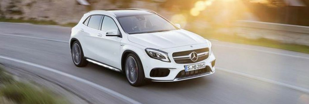 2019 MB GLA 250 on the road