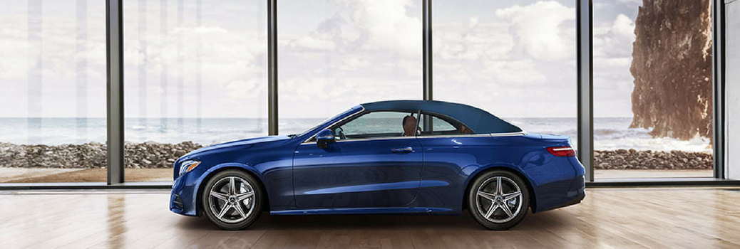 2018 Mercedes-Benz E-Class Cabriolet sitting in a show room.