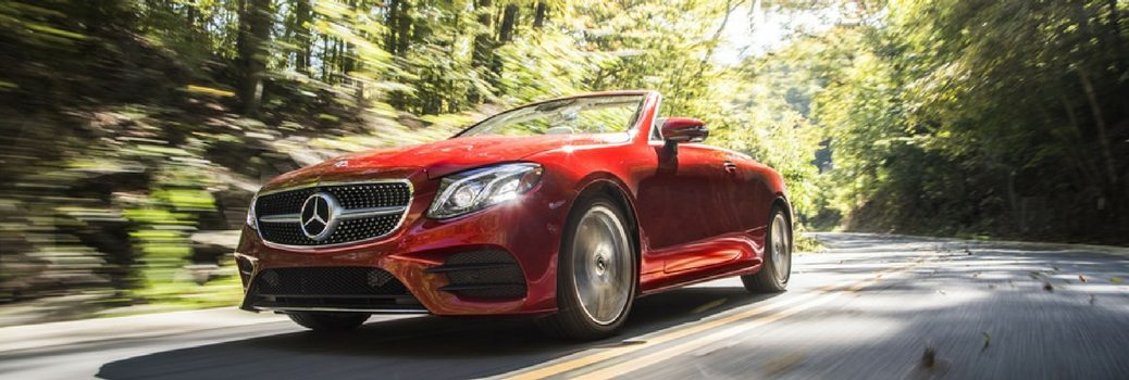2018 Mercedes-Benz E-Class Cabriolet on back road