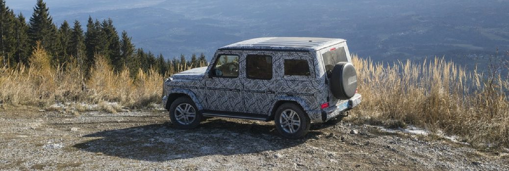 2019 Mercedes-Benz G-Class on the side of a hill